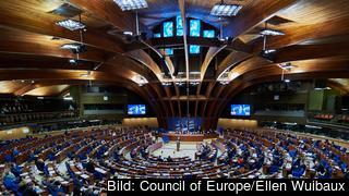 Europarådets parlamentariska församling i Strasbourg håller plenarmöte. Arkivbild.