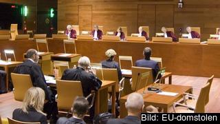 Förhandling i EU-domstolen i Luxemburg. Arkivbild.