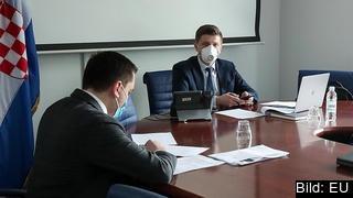 Finansministrarnas telefonmöte under ledning av det kroatiska EU-ordförandeskapet 23 mars 2020.