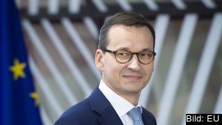 Polens nationalkonservative premiärminister Mateusz Morawiecki. Arkivbild.