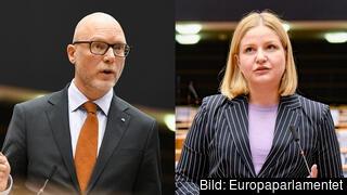 Europaparlamentarikerna Jörgen Warborn (M) och Arba Kokalari (M) i ifrågasätter socialdemokraternas politik för den inre marknaden och internationell handel.