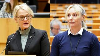 """Heléne Fritzon blev """"oerhört upprörd"""" och Jessica Stegrud """"otroligt trött"""" under en paneldebatt om jämställdhet på måndagen."""