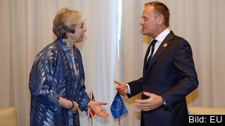 Storbritanniens premiärminister Theresa May och Europeiska rådets ordförande Donald Tusk träffades nyligen och pratade brexit på den egyptiska badorten Sharm el-Sheik.