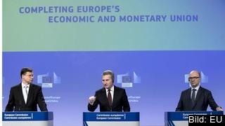 Kommissionen vill bland annat skapa en europeisk valutafond och en europeisk finansminister.