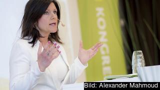 Eva Nordmark, ordförande i  TCO, vill se en mer aktiv svensk regeringen som slår vakt om EU:s värdegemenskap och driver på åtgärder mot de medlemsländer som inte lever upp till den. Arkivbild.