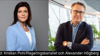 Arbetsmarknadsminister Eva Nordmark (S) och Europaparlamentariker Johan Danielsson (S).
