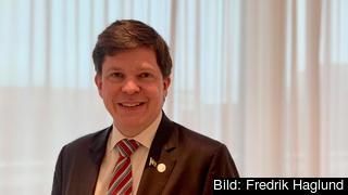 Svenska riksdagens talman Andreas Norlén på officiellt besök i Bryssel.