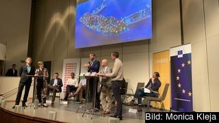 EU:s utrikespolitik, mänskliga rättigheter och migration debatterades av EU-kandidater i Folkets hus i Stockholm på tisdagen