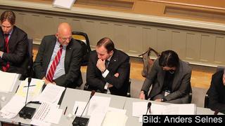 Statsminister Stefan Löfven (S) i riksdagens EU-nämnd. Arkivbild.