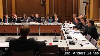 I riksdagens EU-nämnd förankrar regeringen sin ståndpunkt inför EU-möten. Arkivbild.