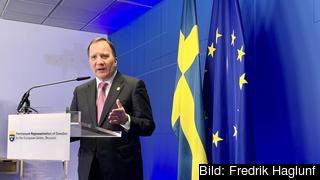 Statsminister Stefan Löfven (S) innan EU-toppmötet i Bryssel där unionens flerårsbudget ska förhandlas.