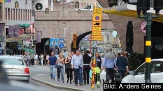 Folk på Kungsgatan