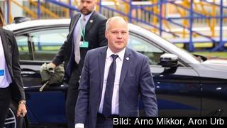Sveriges justitieminister Morgan Johansson på väg till ett möte EU:s justitieministrar. (Arkivbild)