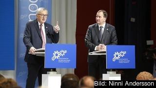 Statsminister Stefan Löfven och EU-kommissionens ordförande Jean-Claude Juncker vill att medlemsländerna nu går från ord till handing.