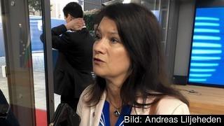 EU- och handelsminister Ann Linde (S) i Bryssel på tisdagen.