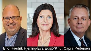 Karl-Petter Thorwaldsson LO, Eva Nordmark TCO och Göran Arrius Saco.