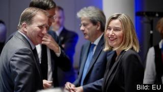 Stefan Löfven (S) och EU:s övriga ledare ska diskutera Iranavtalets framtid och amerikanska sanktioner på torsdag med bland andra utrikeschefen Federica Mogherini.
