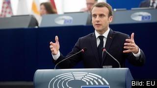 Emmanuel Macron liknar sprickan mellan EU:s medelmsländer vid ett inbördeskrig.