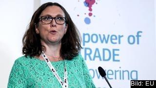 Handelskommissionär Cecilia Malmström vet inte vad Donald Trump menade med att EU skulle ha en orättvis handelspolitik.
