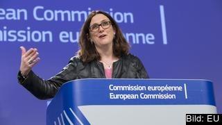 Handelskommissionär Cecilia Malmström vill undvika handelskrig med USA men säger att EU måste svara på amerikanska tullar.