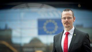 Europaparlamentariker Max Andersson (MP). Arkivbild.