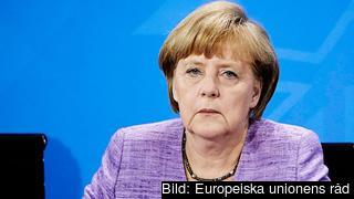 Tysklands förbundskansler Angela Merkel. Tyskland är för närvarande ordförandeland i EU:s ministerråd och leder därför alla förhandlingar med rådet. Arkivbild.