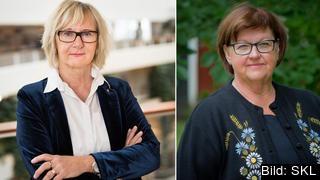 Lena Micko, ordförande, Sveriges Kommuner och Landsting och Carola Gunnarsson, styrelseledamot Sveriges Kommuner och landsting, talesperson för sammanhållningspolitiken i Rådet för kommuner och regioner i Europa (CEMR).