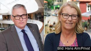 Anders Knape, ordförande SKR, och Elisabeth Unell, ordförande Svenskt Vatten.