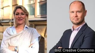 Theresa Ryberg M Figueiredo & Daniel Wiber från Företagarna