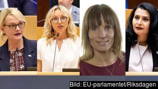 Under fredagen diskuterade Heléne Fritzon (S), Jessica Stegrud (SD), Jessika Roswall (M) och Abir Al-Sahlani (C) höstens viktigaste EU-frågor.