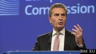 EU:s budgetkommissionär Günther Oettinger vill att medlemsländerna betalar uppåt 150 miljarder kronor mer per år.