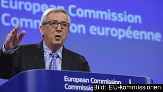 EU-kommissionens ordförande Jean-Claude Juncker under årets första presskonferens.
