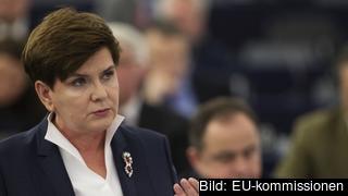 Polens premiärminister Beata Szydło. Arkivbild.