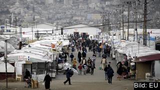 Flyktinglägret utanför Kahramanmaras i centrala Turkiet är ett av dem som får stöd via EU-pengar. Arkivbild.