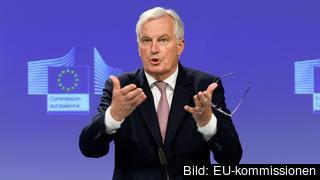 EU:s chefsförhandlare Michel Barnier ber britterna om brexitbesked.