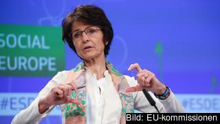 EU:s sysselsättningskommissionär, den belgiska kristdemokraten Marianne Thyssen.