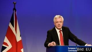 Storbritanniens brexitminister och chefsförhandlare David Davis.
