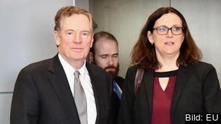Handelskommissionär Cecilia Malmström har förhandlat med sin amerikanska motpart för att undantas USA:s tullar.