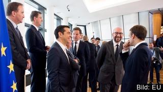 Ledarna från 16 EU-länder närvarade på söndagens blixtinsatta toppmöte om migration i Bryssel.