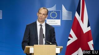 Den brittiske brexitministern Dominic Raab skrev i ett brev i onsdags att han tror att ett brexitavtal blir klart snart.
