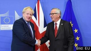 EU-kommissionens ordförande Jean-Claude Juncker och Storbritanniens premiärminister Boris Johnson. Arkivbild.