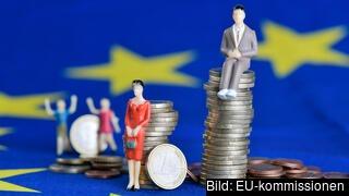 Lönegapet mellan män och kvinnor i EU är 14 procent. Arkivbild.