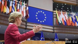 EU-kommissionens ordförande Ursula von der Leyen presenterar sitt förslag på en ny coronafond och uppdaterad flerårsbudget.