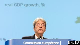 EU:s ekonomikommissionär, den italienske socialdemokraten Paolo Gentiloni.