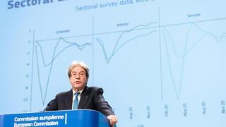 EU:s ekonomikommissionär Paolo Gentiloni.