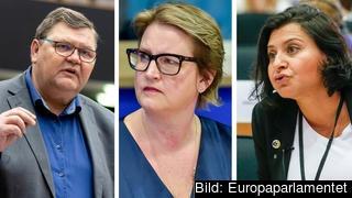 Lundgren (SD) håller med EU-kommissionen om att Ungerns undantagslagar inte bryter mot EU-regler, medan  Karlsbro (L) och Al-Sahlani (C) är kritiska.