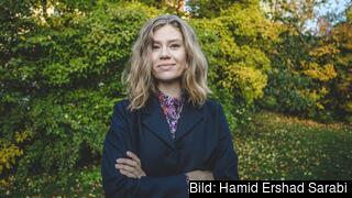 Katarina Stensson, partiledare för Piratpartiet.