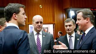 Statsminister Fredrik Reinfeldt vid ett tidigare toppmöte i Bryssel. Arkivbild.