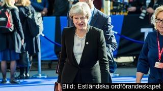 Theresa May kan vara på väg ut som brittisk premiärminister. Arkivbild.