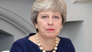 Brittiska premiärministern Theresa May söker stöd i partiet för sin brexitplan.